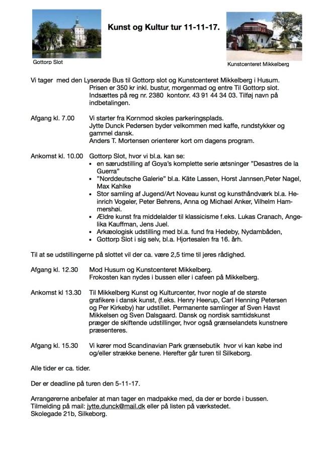 Kunst og Kultur tur 4-11 -17