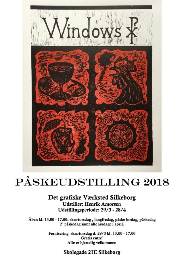 Plakat påskeudstilling 2018 til hj. side og lign.